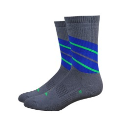 Defeet Thermeator Twister Graphite and Blue socks