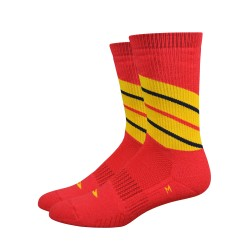Defeet Thermeator Twister red socks