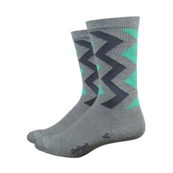 Chaussette Defeet Wooleator Ziggy gris 6 pouces