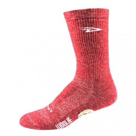 Chaussettes Defeet woolie boolie 6 pouces rouge