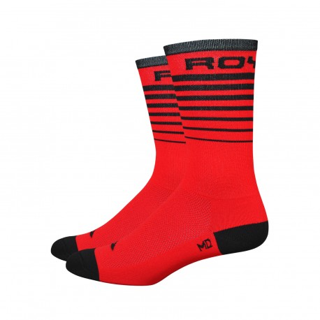 Chaussettes DeFeet Aireator 6 pouces Royal Socks Rouge