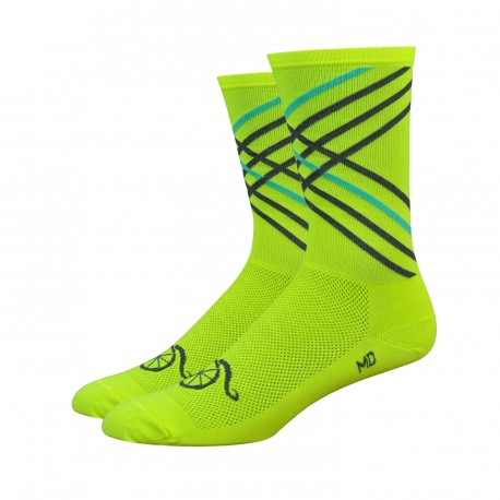 Handlebar Mustache socks crossroads yellow