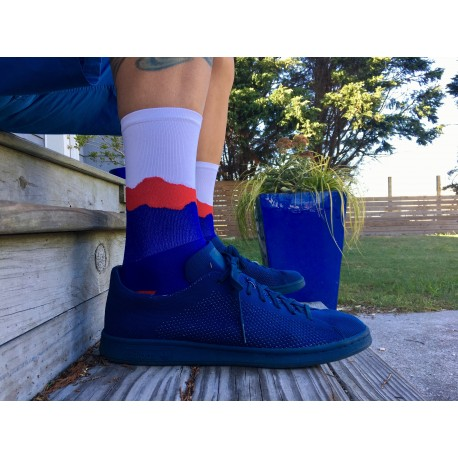 """DeFeet Ridge Supply 6"""" Aireator THE BIG SKY- WHITE/SCARLET/ROYAL EDITION"""