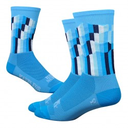 "DeFeet Ridge Supply 6"" Aireator - The Grid blue"