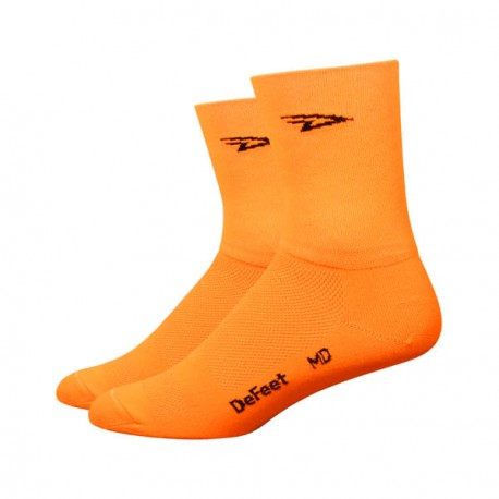 Chaussettes Defeet Aireator Hi-Top double layer orange  fluo