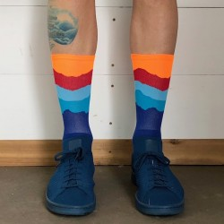 Chaussettes DeFeet Ridge Supply Skyline Fire