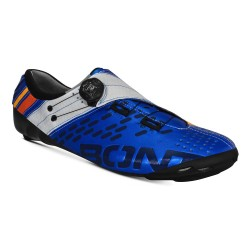 Bont Helix cycling shoes, metallic blue and white