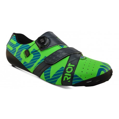 Chaussures Bont Riot + Lime/charcoal