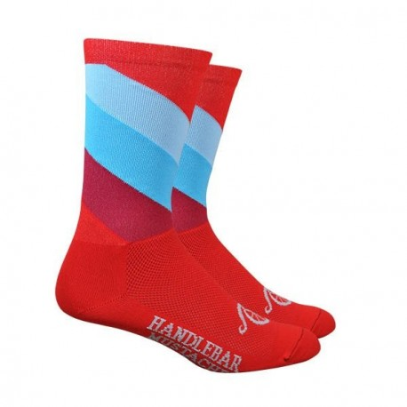 DeFeet Handlebar Mustache BJC Stripes socks