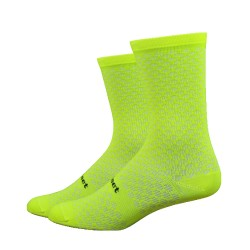 DeFeet Evo Mont Ventoux Hi Vis Yellow socks