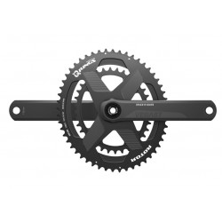 Rotor VEGAST crankset with rim or disc brakes axle + arms + spidering round or ovalized Qrings 12,5% 50*34 52*36 or 53*39