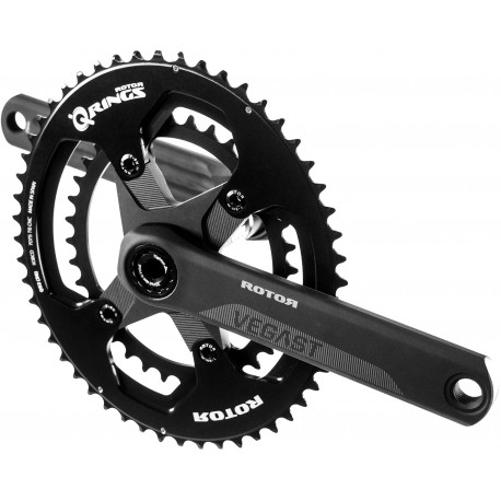 Rotor VEGAST crankset withs axle + arms + spider +chainrings round or ovalized