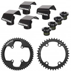 Rotor round chainring set NOQ for Shimano Ultegra 6800/8000 or Dura Ace 9000/9100