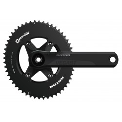 Rotor VEGAST Aero crankset withs axle + arms + spider +chainrings round or ovalized
