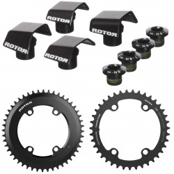 Rotor round chainring set AERO NOQ for Shimano Ultegra 6800/8000 or Dura Ace 9000/9100