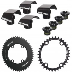 Rotor Qrings Aero chainring set for Shimano Ultegra 6800/8000 or Dura Ace 9000/9100