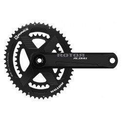 Rotor Aldhu 24 crankset with axle + arms + spidering round or ovalized Qrings 12,5% 50*34 52*36 or 53*39