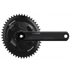 Rotor VEGAST 24 AERO crankset with axle + arms + spider +chainrings round or ovalized
