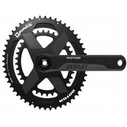 Rotor VEGAST 24 crankset with axle + arms + spidering round or ovalized Qrings 12,5% 46/30,48/32,50/34,52/36,53/39