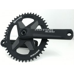 ROTOR Aldhu 24 165mm with single chainring mount 48 Qrings ovalized