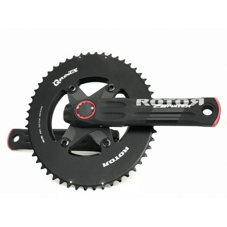 Rotor 2Inpower Spider Mount powermeter crankset DM semi aero