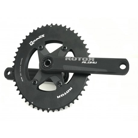 Rotor Aldhu Spider Mount crankset kit 24 or 30mm with aero chainrings