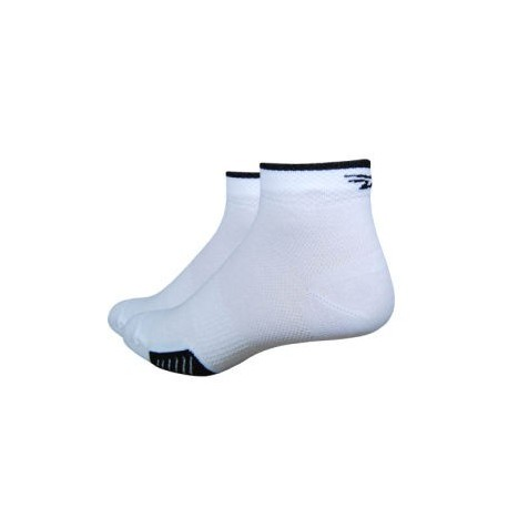 Chaussettes defeet cyclismo taille basse stripe blanc