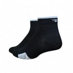 Chaussettes defeet cyclismo taille basse stripe noir