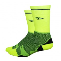 Defeet Levitator Lite Stripe yellow neon