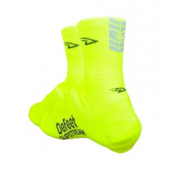 Defeet slipstream neon hivis yellow with reflector oversocks