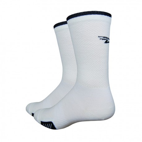 Chaussettes Defeet cyclismo laine blanc