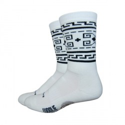 "Chaussettes Defeet laine blanches ""the Dude"""