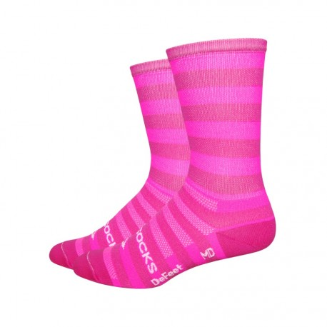 "Chaussettes Defeet Sako Aireator 6"" Hi Top New York Hipster rose"