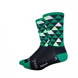 "DeFeet Aireator sako7socks 6"" Hi Top Pro Solitude green"