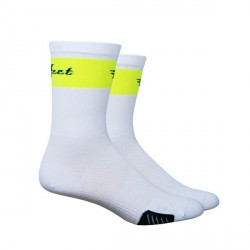 "Defeet Cyclismo 5"" trico white & neon yellow"