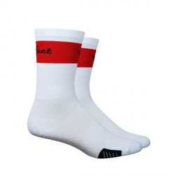 Chaussettes Defeet Cyclismo Trico blanc et rouge