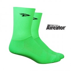 Chaussettes Defeet Aireator Hi-Top double layer vert fluo
